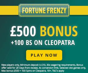 Fortune Frenzy Casino Welcome Deposit Bonus