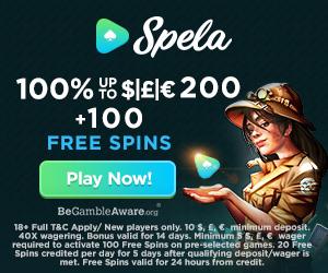 Spela Casino Welcome Deposit Bonus